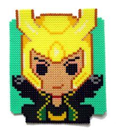 Loki Portrait Hama perler beads by Aenea-Jones on deviantART Cross stiche next