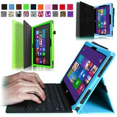 """#santapaksweeps Slim Case Cover for Microsoft Surface RT &Suface 2 Windows 10.6"""" Keyboard Holder"""