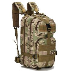 MoneRffi Outdoor Military Tactical Backpack Molle Bag Army Sport Travel Rucksack Camping Hiking Trekking Camouflage Bag Color A Rucksack Bag, Rucksack Backpack, Backpack Camping, Survival Backpack, Laptop Backpack, Travel Backpack, Molle Bag, Camouflage Backpack, Nylons