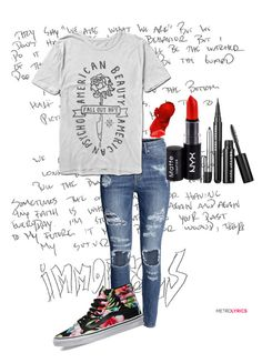 """""""FOB 2.0"""" by kit-kat-1987 ❤ liked on Polyvore featuring H&M, Vans, NYX, women's clothing, women's fashion, women, female, woman, misses and juniors"""