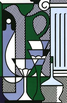 """MusicArt """"Purist Still Life"""", 1975  Roy Fox Lichtenstein (Nueva York,(1923-1997) fue un pintor estadounidense de arte pop, artista gráfico y escultor, conocido sobre todo por sus interpretaciones a gran escala del arte del cómic."""