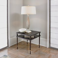 Couture Side Table in Mahogany | Ambella Home | Home Gallery Stores