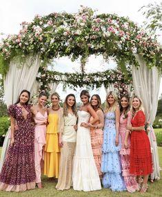 Printed Bridesmaid Dresses, Wedding Dresses, Alternative Bridesmaid Dresses, Wedding Goals, Dream Wedding, Wedding Guest Style, Wedding Ideias, My Perfect Wedding, Team Bride