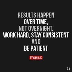 Results Happen Over Time, Not Overnight Work hard, stay consistent and be patient! https://www.gymaholic.co