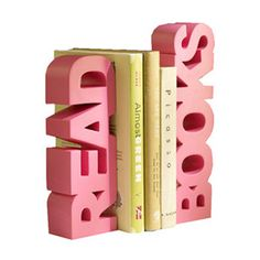 Sandwich your favorite novels between these READ BOOKS bookends