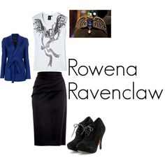 Rowena Ravenclaw by dylandawn11 on Polyvore featuring McQ by Alexander McQueen, A.F. Vandevorst, Moschino Cheap & Chic and Friis & Company