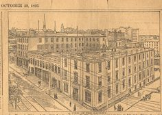 Mayo Tobacco Factory on Cary Street from the Richmond Times, Oct. 20, 1895. The factory was built in 1874. | The Shockoe ExaminerBlogging the History of Richmond-in-Virginia