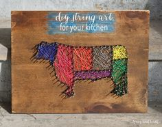 A DIY string art tutorial - make string art out of any image with an outline following these instructions! I made string art for my kitchen.
