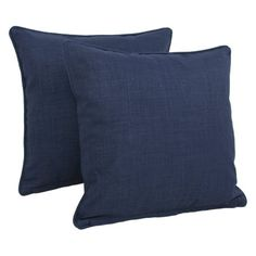 Blazing Needles 18 x 18 in. Solid Twill Outdoor Throw Pillows - Set of 2