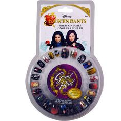 - The New Disney Movie Descendants Pretend Stick-On Nails With Mal - 24 Temporary Nails in 5 Different Sizes - Good Is The New Bad - With Bonus Descendants Nail File - Easily Removable - Great Easter