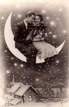 Vintage Paper Moon Postcard - THE EPHEMERA / It would be fun to have a paper moon for photos at a ball Vintage Moon, Vintage Paper, Moon Photography, Vintage Photography, Lasso The Moon, Retro, Luna Moon, Shoot The Moon, Moon Photos