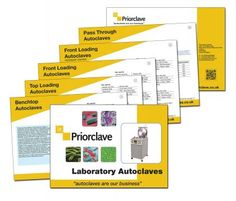 New Autoclave Product Guide from Priorclave  For laboratory managers undecided on the best autoclave for their next purchase a new 16 page brochure just released by Priorclave is a must read.  It introduces the Company's complete range of standard autoclaves, of which there are more than sixty models, all designed to meet the needs of diverse business sectors involved in research and development with dairy, food, pharmaceutical, education and healthcare