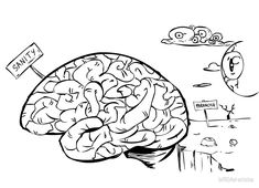 a brain/the mind is a place of rational thought and when you are out of your mind you enter a place of paranoia and irrational thoughts. Out Of Your Mind, Mind You, Brain, Mindfulness, Thoughts, The Brain, Consciousness, Ideas