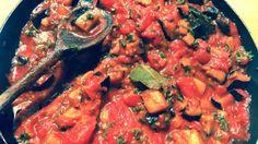 Imam Bayildi - Middle Eastern Aubergine & Tomato Stew