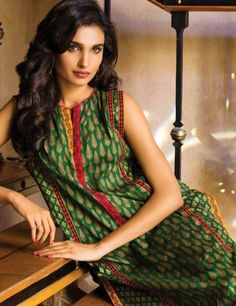 Orient Green Cotton Lawn Suit With Bottom OTL15102A