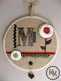 embroidery hoop art - buy emboirdery hoops in bulk then just provide random scraps and needles and thread. could make up a few examples...
