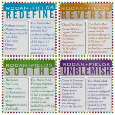 If the skincare you are currently using is not effectively addressing your skin concerns, isn't it time you try something new!? Rodan + Fields products are clinically proven to help your specific skin concern, love it or your money back with our 60 day empty bottle guarantee. Stop using products that are just keeping your skin status quo...