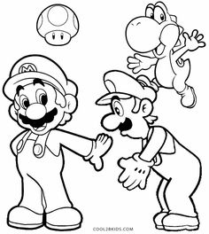 super mario coloring pages for kids, printable free | coloring ... - Super Mario Luigi Coloring Pages