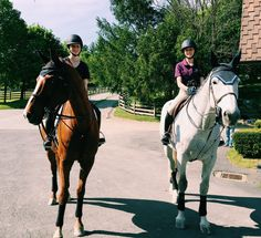Riding with your best friend and having your horses be best friends also✧