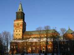 Europe Video Productions travel photo: medieval Turku Cathedral in Finland: oldest Finnish cathedral. Places In Europe, Tourist Places, Places To Visit, Helsinki, Lappland, Travel Images, Travel Photos, Finland Country, Turku Finland