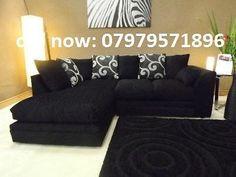 Barcelona Black Corner sofa on sale - brand new - call now | United Kingdom | Gumtree