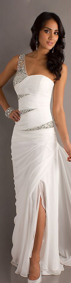 Formal long dress #oneshoulder #sexy #ivory