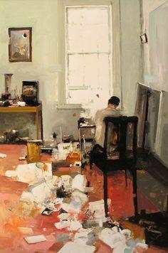 Interior Studio-New York based painter Geoffrey Johnson
