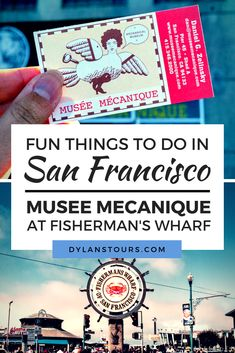 There are so many fun things to do in San Francisco, but we highly suggest one of the city's most authentic experiences, the Musee Mecanique at Fisherman's Wharf! Usa Travel Guide, Travel Usa, Travel Guides, Travel Tips, San Francisco Tours, San Francisco Travel Guide, Us Travel Destinations, Fisherman's Wharf, United States Travel