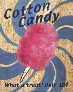 Fair Time Cotton Candy Art Print