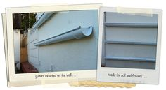 Rain gutters for gardens - use in the alley or on our fences...