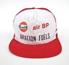 Vintage Gulf BP Aviation Fuels Snapback by worldvintagefashion
