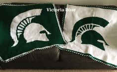 Crochet MSU Spartan Blanket Pattern.  Download it today!