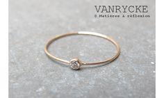 Vanrycke bague ONE or rose diamant blanc