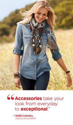 #chicos Simple outfit that accessories make! C!