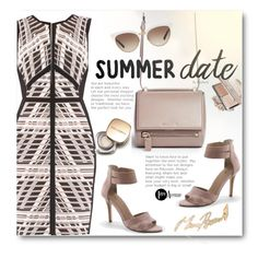 Summer Date Dress: Rooftop Bar by beebeely-look on Polyvore featuring Joseph Ribkoff, Lands' End, Givenchy, Stephen Webster, Gucci, Dolce&Gabbana, country, dress, summerdate and premiereavenue