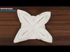 Handtuch falten: Blume (Hotelwäsche Erwin Müller) - YouTube