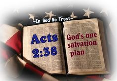 acts 238 bible Gods one salvation plan