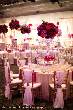 A Gorgeous Pink, Red & Purple Wedding Reception Decor By Prashe Wedding Decor Maroon Wedding, Purple Wedding, Wedding Colors, Wedding Styles, Dream Wedding, Wedding Day, Quinceanera Decorations, Wedding Reception Decorations, Wedding Centerpieces