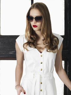 Love this 70ties inspired white denim retro dress from the Spring 2016 collection from WEIZ Copenhagen. New modern retro!