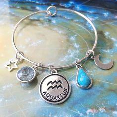 Silver Zodiac Charm Bracelet (all 12 signs avail.) cute zodiac charms bracelet. #zodiacbracelet