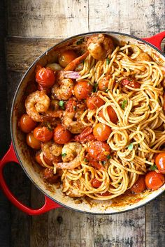 Spicy Shrimp Pasta, Shrimp Spaghetti, Best Seafood Recipes, Spicy Tomato Sauce, Ginger Snap, Healthy Food, Healthy Recipes, Latest Recipe, Side Salad