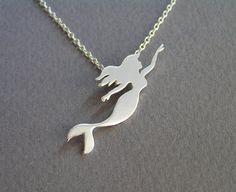 Mermaid Jewelry  Mermaid Necklace Pendant  by DaliaShamirJewelry, $75.00