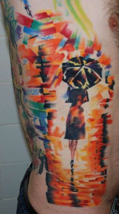This #abstract #tattoo is truly an artistic