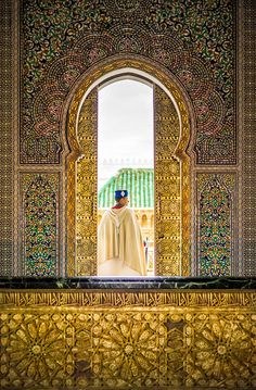 I was actually inside the tomb of Mausoleum of Mohammed V at the time I took this. It was dark inside compared the outside, but I had to expose for the guard himself, otherwise he would be hopelessly (and probably un-recoverably) overexposed! - RABAT, MOROCCO - photo from #treyratcliff Trey Ratcliff at http://www.StuckInCustoms.com