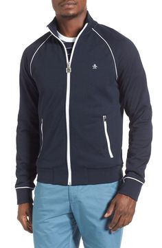 67281a9caccc4 Original Penguin Original Penguin Earl Track Jacket available at #Nordstrom  Fashion Tips, Mens Fashion