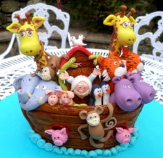 Handmade Noah's Ark polymer Clay Ornament by TwinkleBalls on Etsy, £180.00