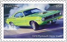 Muscle Car stamps by Tom Fritz
