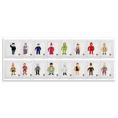 Mr Benn - Set of 16, Limited Edition Unframed Print, 20x20cm