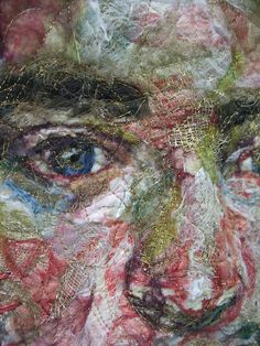 """Hannah Reilly - Detail from """"Handmade in Britain"""", mixed media textile sculpture, 2012"""