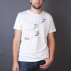Track Meet Tee Vintage White now featured on Fab.